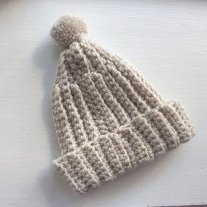 Other - Baby cable knit hat with pom-pom!